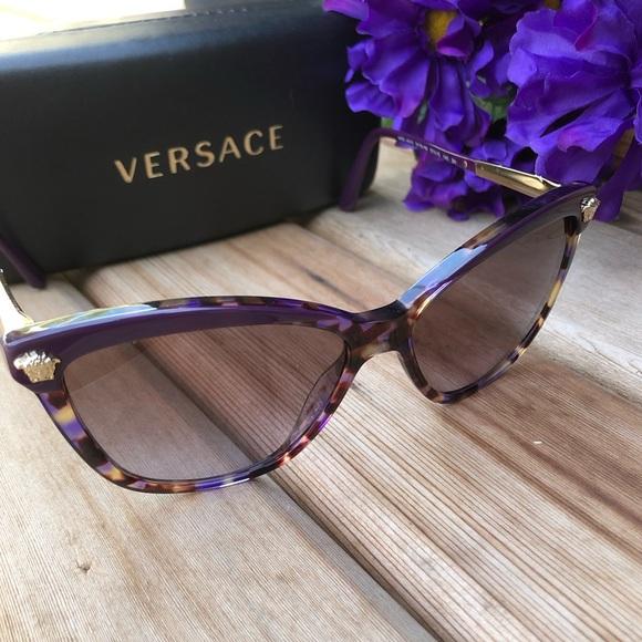 8ff774a9ee6c Versace Tortoise Purple Sunglasses NWOT. M 5bf0a4719539f7f7caafa3d6. Other  Accessories ...
